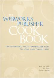 Cover of: The WebWorks Publisher cookbook