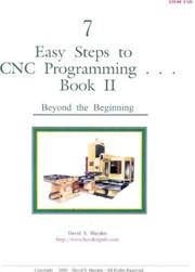 Cover of: 7 Easy Steps to CNC Programming, Book II |