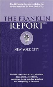 Cover of: The Franklin Report, New York City 2002 | Elizabeth Franklin