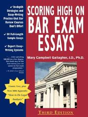Cover of: Scoring High on Bar Exam Essays