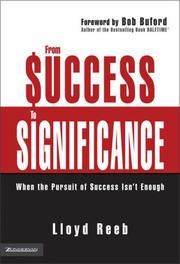 Cover of: From Success to Significance