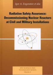 Cover of: Radiation Safety Assurance | Igor A. Engovatov