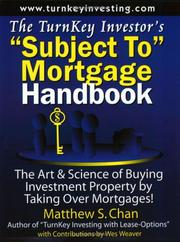 "Cover of: The TurnKey Investor's ""Subject To"" Mortgage Handbook"
