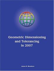 Cover of: Geometric Dimensioning and Tolerancing in 2007