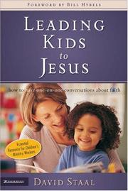 Cover of: Leading kids to Jesus | David Staal