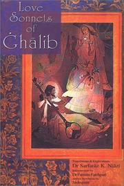 Cover of: Love sonnets of Ghalib by Mirza Asadullah Khan Ghalib