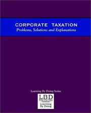 Cover of: Corporate Taxation