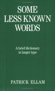 Cover of: Some Less Known Words