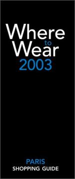 Cover of: Where to wear 2003