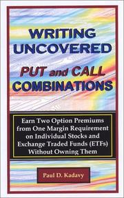 Cover of: Writing Uncovered Put and Call Combinations