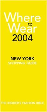 Cover of: Where to wear 2004