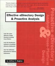 Cover of: Effective eDirectory Design & Proactive Analysis | Jeffrey F. Hughes