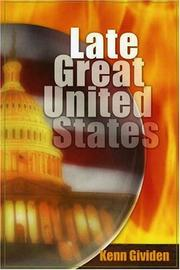 Cover of: The Late Great United States