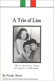 Cover of: A trio of lies