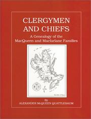 Cover of: Clergymen and Chiefs | Alexander McQueen Quattlebaum