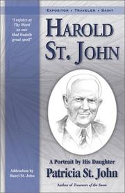 Cover of: Harold St. John