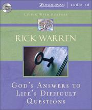 Cover of: God's Answers to Life's Difficult Questions (Living With Purpose)