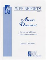 Cover of: Africa's discontent