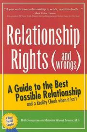 Cover of: Relationship Rights (and Wrongs) by Beth Sampson, Melinda Wyant Jansen