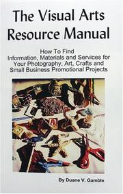 Cover of: The Visual Arts Resource Manual