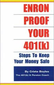 Cover of: Enron Proof Your 401(k) | Crista Boyles