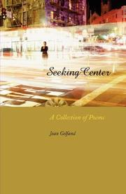 Cover of: Seeking Center | Joan Gelfand