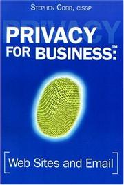 Cover of: Privacy for Business | Stephen Cobb