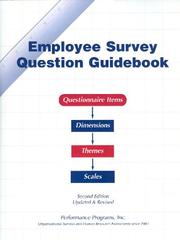 Cover of: Employee Survey Question Guidebook