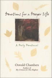 Cover of: Devotions for a deeper life