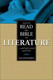 Cover of: How to read the Bible as literature