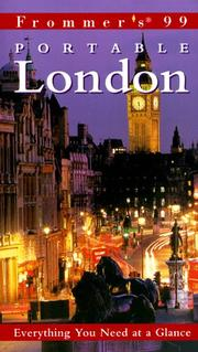 Cover of: Frommer's Portable London '99