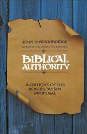 Cover of: Biblical authority