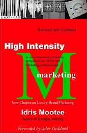 Cover of: High Intensity Marketing