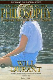 Cover of: An Invitation to Philosophy
