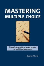 Cover of: Mastering Multiple Choice