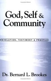 Cover of: God, Self & Community