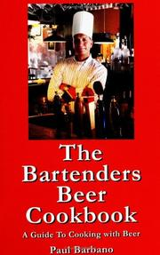 Cover of: The Bartenders Beer Cookbook