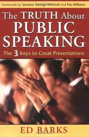 Cover of: truth about public speaking | Ed Barks