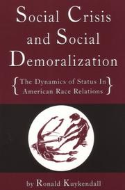 Cover of: Social Crisis and Social Demoralization