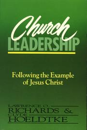 Cover of: Church leadership