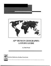 Cover of: AP Human Geography | Ethel Wood