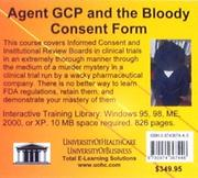 Cover of: Agent GCP and the Bloody Consent Form | Daniel Farb