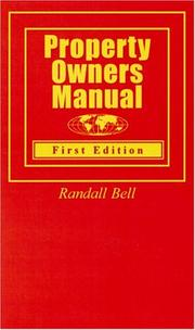 Cover of: Property Owners Manual