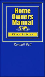 Cover of: Home Owners Manual