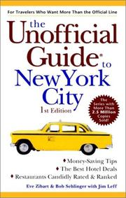 Cover of: The Unofficial Guide to New York City (Unofficial Guides) | Eve Zibart