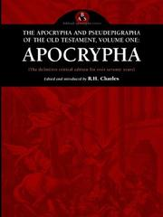 Cover of: The Apocrypha and Pseudepigrapha of the Old Testament | R. H. Charles