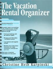 Cover of: The Vacation Rental Organizer