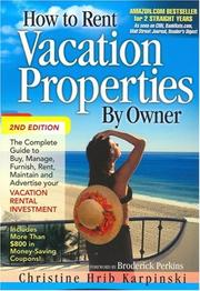 Cover of: How to Rent Vacation Properties by Owner