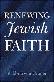 Cover of: Renewing Jewish Faith