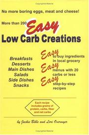 Cover of: Easy Low Carb Creations | Jackie Bible